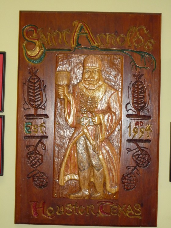 St. Arnold carved door