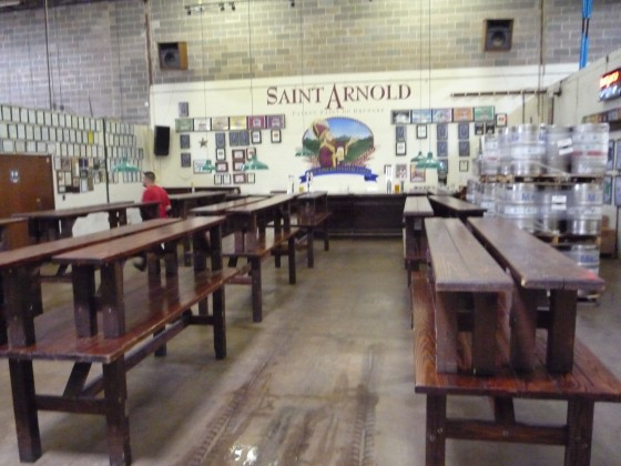 The tasting area at the old St. Arnold Brewery