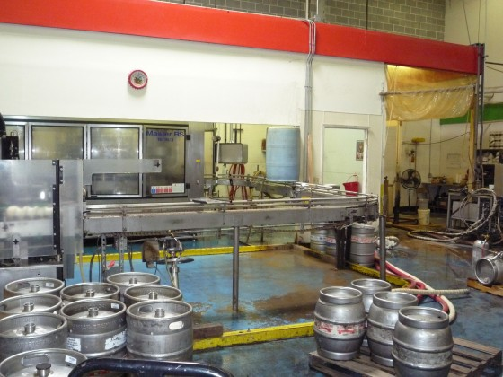 The kegging and bottling area at the old St. Arnold Brewery