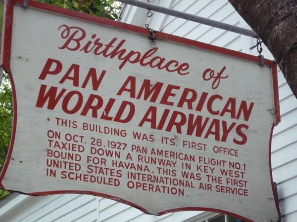 Pan Am Birthplace Sign