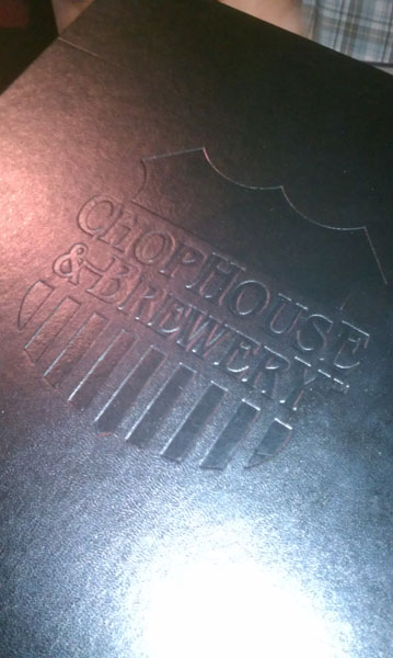 Chop House Menu