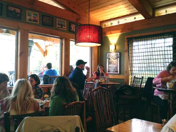 Dining area at Big Woods Brewing