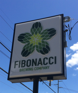 Fibonacci Brewing Sign